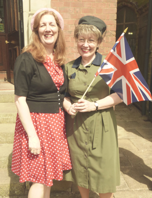 1940s - Alison Hyatt and Anne Willetts, staff at Haden Hill House Museum