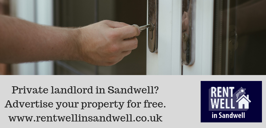 Rentwell in Sandwell website