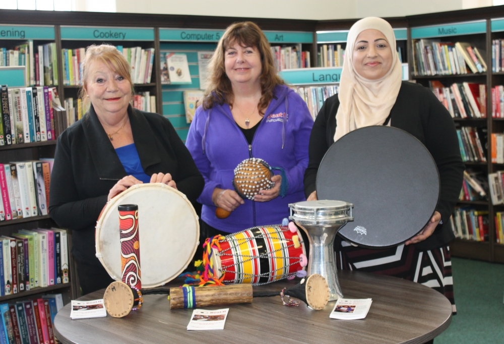 Beat It Percussion at Wednesbury Library