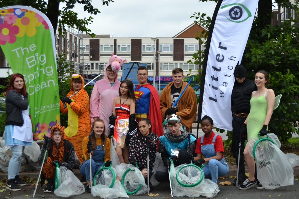 Big Spring Clean superheroes from National Citizen Service