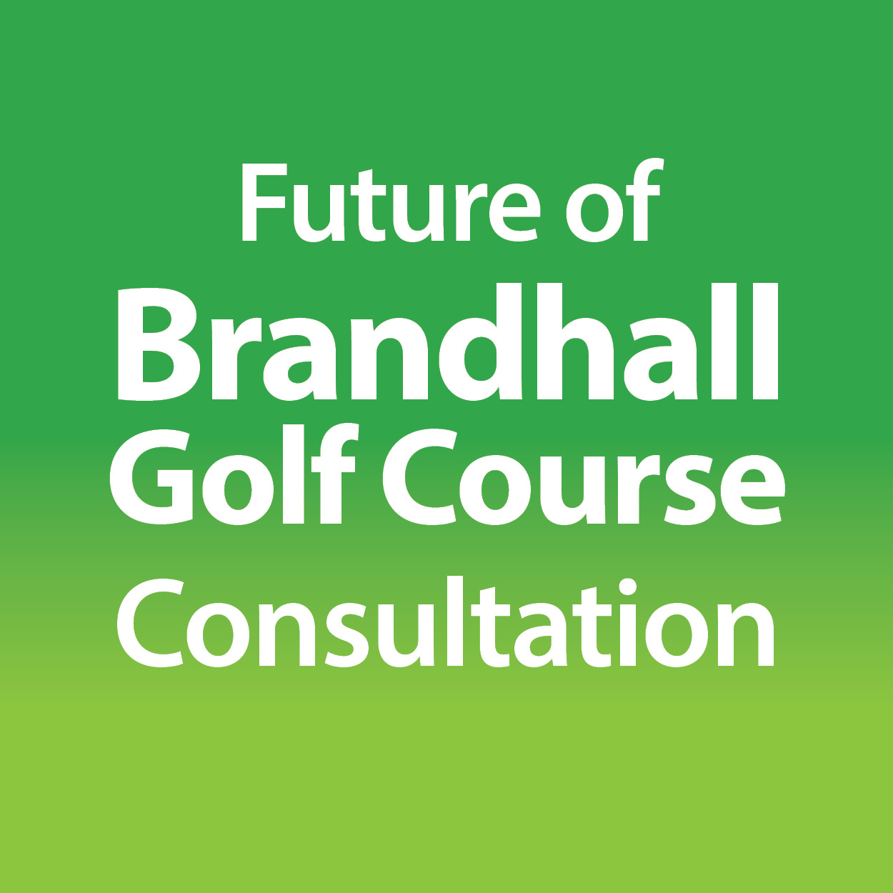 Future of Brandhall Golf Course consultation