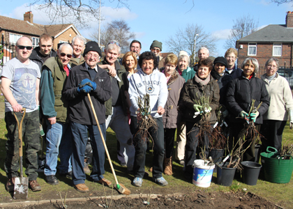 Volunteer gardeners at Oak House Museum, West Bromwich