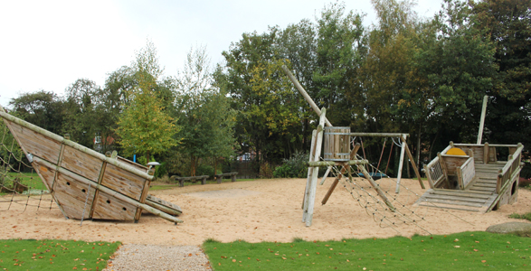Play area at Oak House