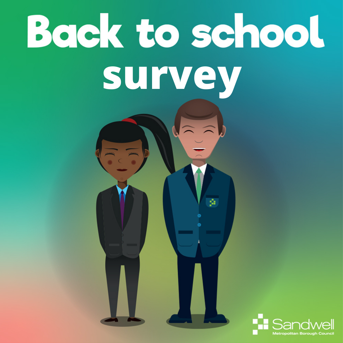 Back to school survey graphic