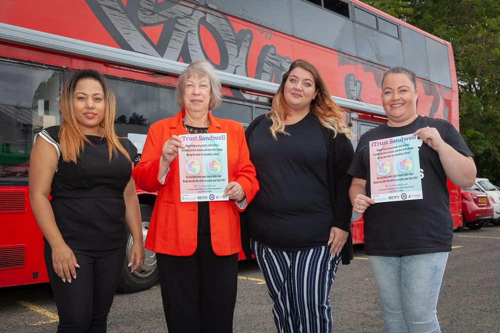 Children and families enjoyed fun on the Youth Bus, advice and entertainment at the launch of a new project to help young people in the transition to secondary school.