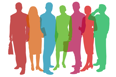 silhouette image of business people
