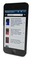 Library app on a phone screen